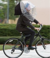 Hand free cockpit umbrella